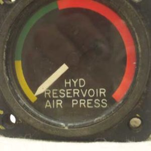 Aero Tech Hydraulic Reservoir Air Pressure Gauge